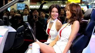 Saki Tachibana & Maya Sano boothgirl at Tokyo Motor Show 2017 Pione...