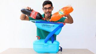 Can We Filter Coca Cola Using LifeStraw? क्या कोका कोला से पानी निकल सकता है?