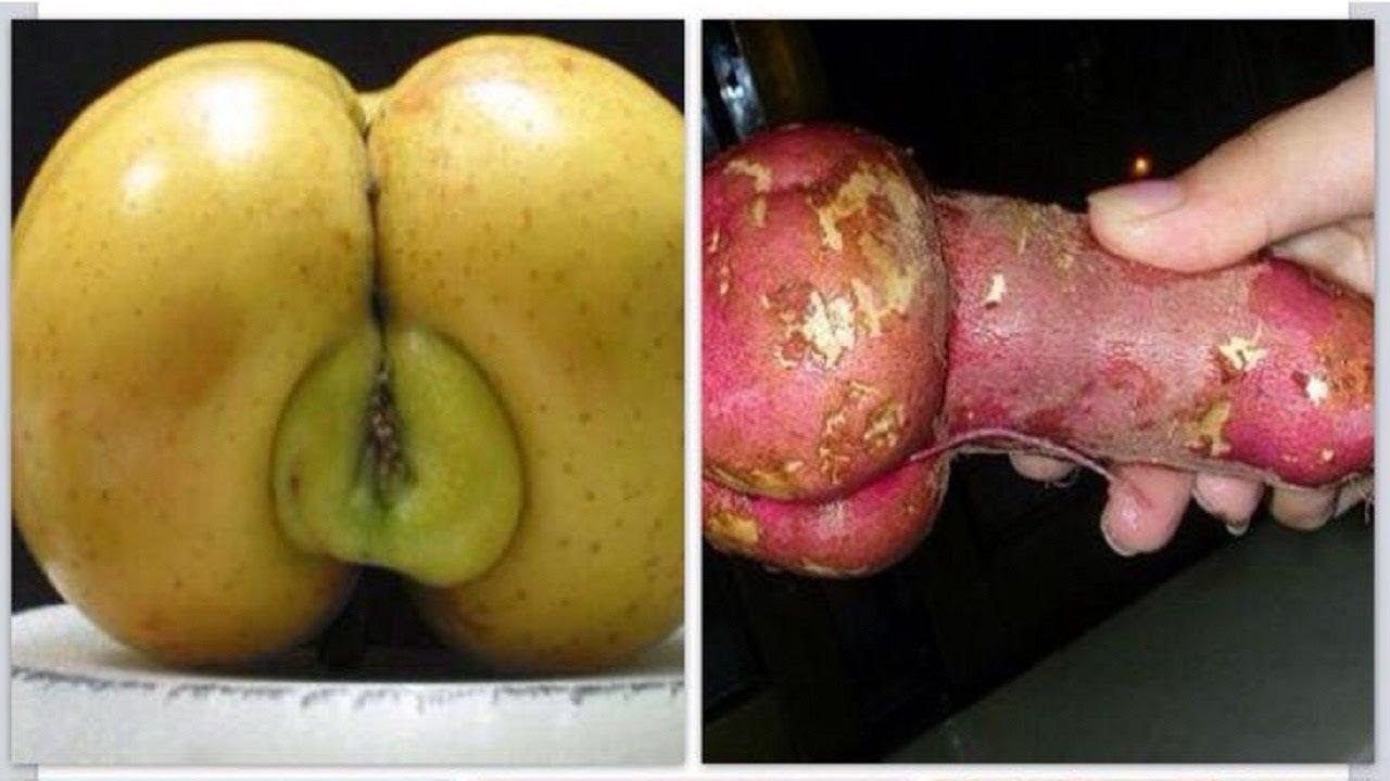 секс с огромными овощами и членом для