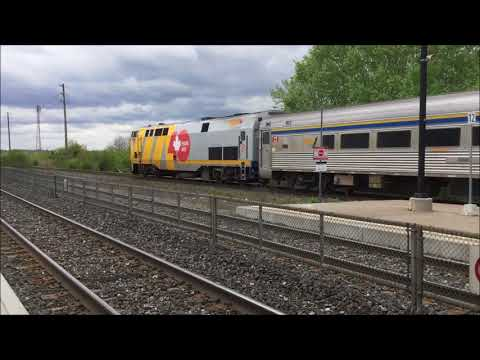 Busy day railfanning at 4th line and Bronte GO station on Victoria Day long weekend May 20 2018