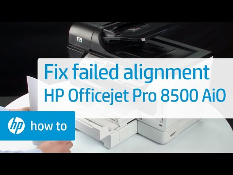 Fix Failed Alignment | HP Officejet Pro 8500 Premier All-in-One Printer | HP