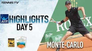 Highlights: thiem battle leads thrilling tuesday in monte-carlo 2018