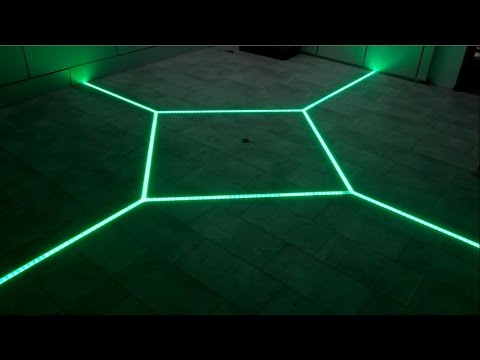 How To LED Floor Tiling System DIY Make Your Floor Interactive - Garage floor tracks