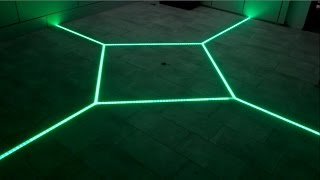 how to LED floor tiling system DIY make your floor interactive Aluminum LED Light tilebar profile(LED DIY Group - https://www.facebook.com/groups/1020525317958853/ Like our Facebook Page - https://www.facebook.com/ejunky1 Website ..., 2015-05-21T20:49:11.000Z)