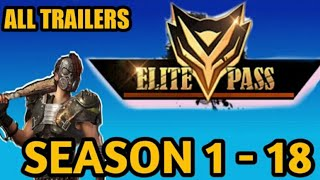 FREE FIRE ELITE PASS SEASON 1 TO 25  AND ALL TRAILERS || Garena FreeFire