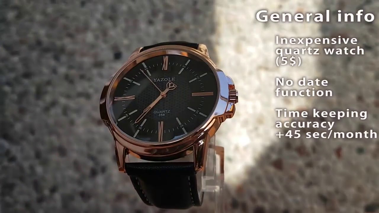 d37d04a69c6 Relógios Masculinos yazole social quartz pulseira couro a prova d água  Gentleman