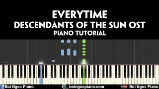 CHEN-XPunch - Everytime (Descendants of the Sun OST) | Piano tutorial #68 | Bội Ngọc piano