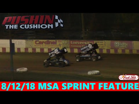 Angell Park Speedway - 8/12/18 - MSA Sprints - Feature