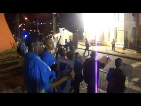 Hundreds Protest Governor John de Jongh State of the Territory Address January 30th 2012