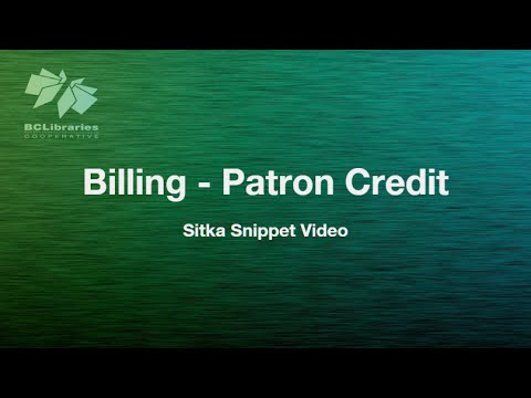 Sitka Snippet Video - Patron Credit