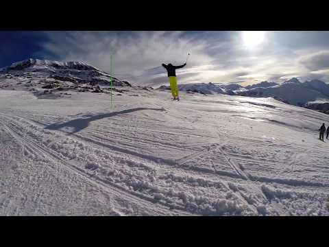 Skiing in Alpe D'Huez 2015 GoPro Hero 3+