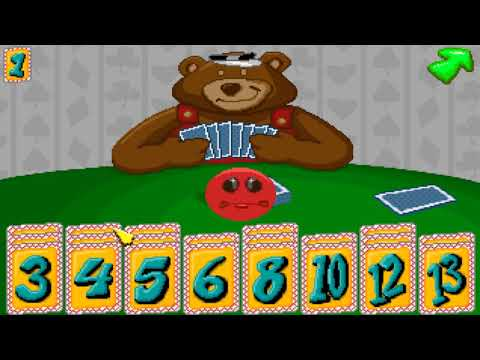Beating Fatty Bear In A Card Game (Go Fish) (MS-Dos, 1994)