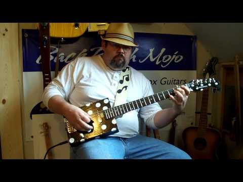 Buddy Guy Tribute Cigar Box Guitar by Back Porch Mojo