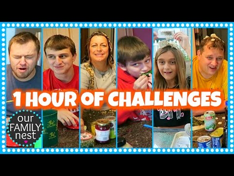 1 HOUR OF GROSS FOOD CHALLENGES // OUR FAMILY NEST