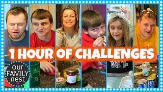 1 hour of gross food challenges our family nest