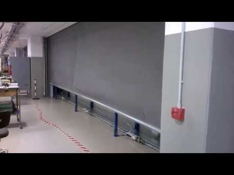 Fire curtain industrial application