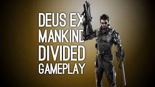 Step up for new Deus Ex Mankind Divided gameplay as gravelvoiced cyborg Adam Jensen dismantles a terrorist group of augmented humans on his way to a