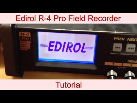 Edirol R4 Pro Tutorial