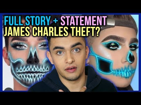 JAMES CHARLES SPEAKS ON COPYING NEON SKULL HALLOWEEN MAKEUP!!