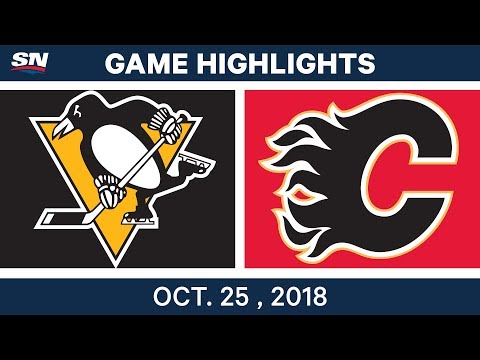 NHL Highlights | Penguins vs. Flames - Oct. 25, 2018