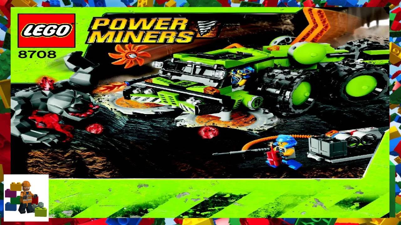LEGO instructions - Power Miners - 8708 - Cave Crusher ...