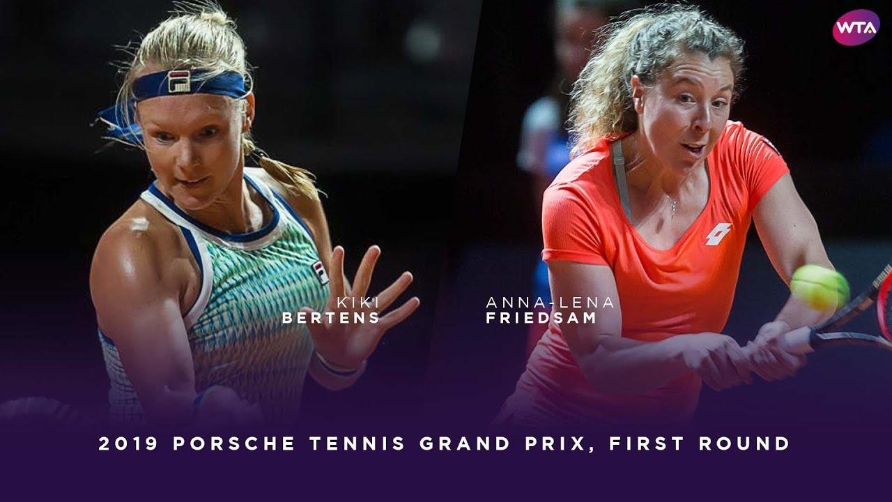 Kiki Bertens vs. Anna-Lena Friedsam | 2019 Porsche Tennis Grand Prix First Round | WTA Highlights