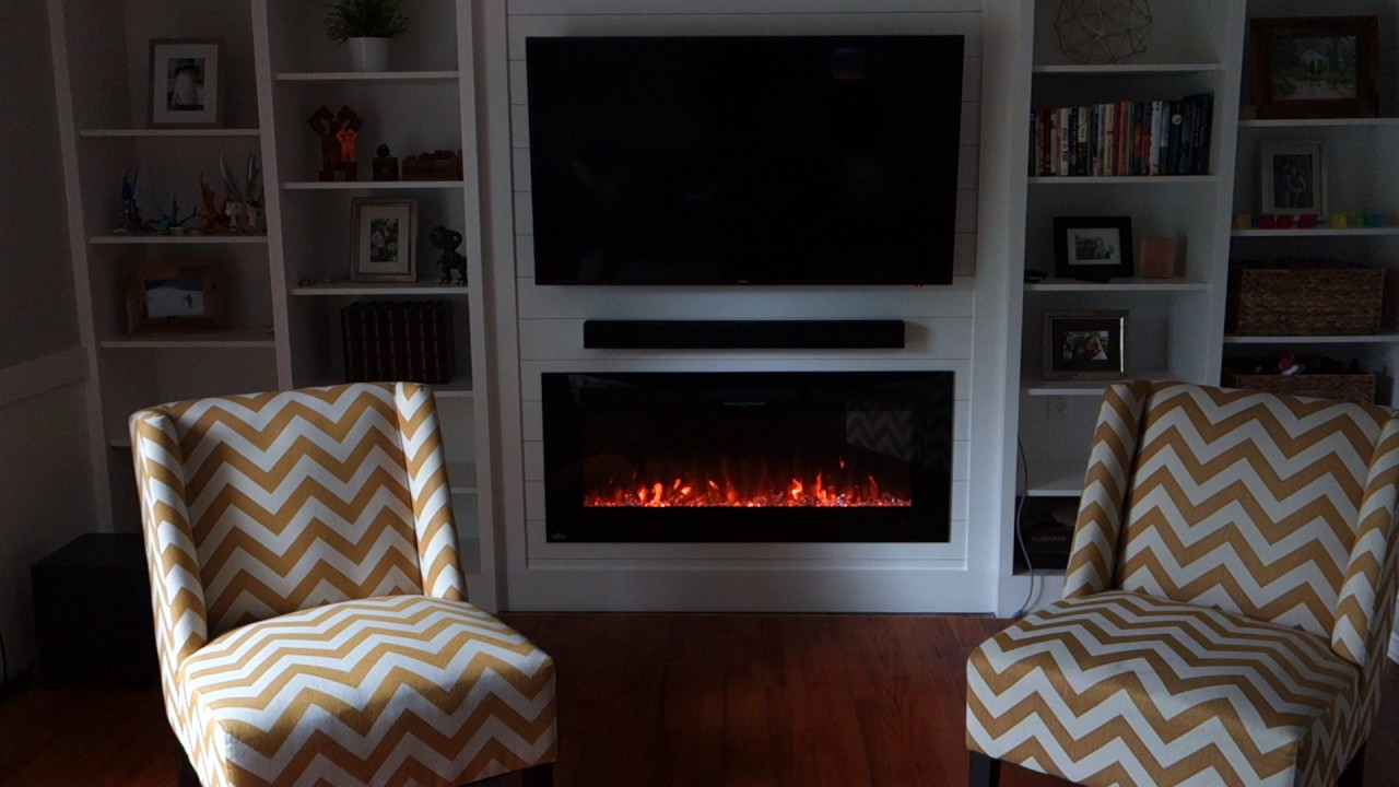 napoleon allure electric fireplace in action youtube