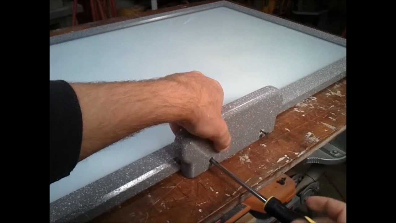 Glass dry erase board - YouTube