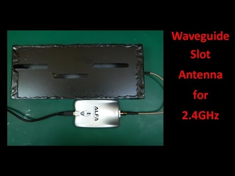 waveguide slot Antenna for 2 4GHz