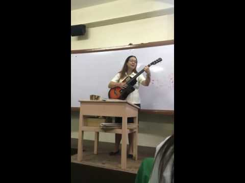 Teacher Eda Nepangue of University of San Jose-Recoletos 'Officially Missing You' Cover