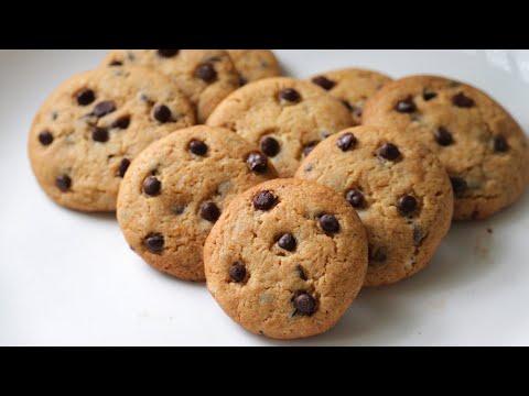 Eggless chocolate chip cookies recipe