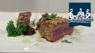 chef steve love creates a venison with red cabbage recipe