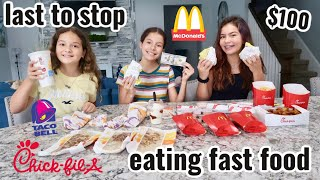 LAST To STOP EATING FAST FOOD Wins $100.00 | SISTER FOREVER