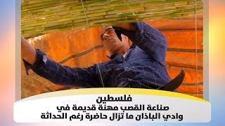 فلسطين - صناعة القصب مهنة قديمة في وادي الباذان ما تزال حاضرة رغم الحداثة