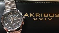 Akribos XXIV AK625SSB Men's Watch Unboxing & Review