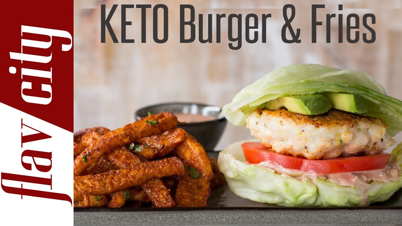 Low Carb Shrimp Burger Jicama Fries Keto Diet Meal Plan For