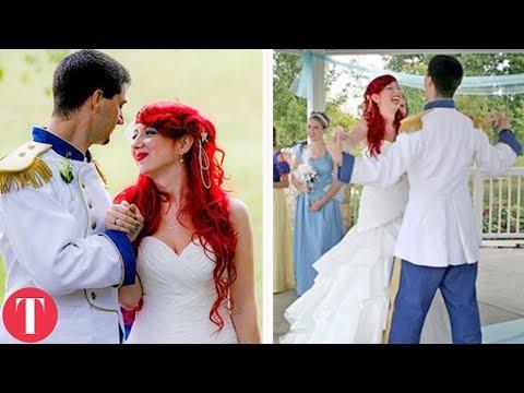 Download Youtube: 10 Real Life DISNEY WEDDINGS