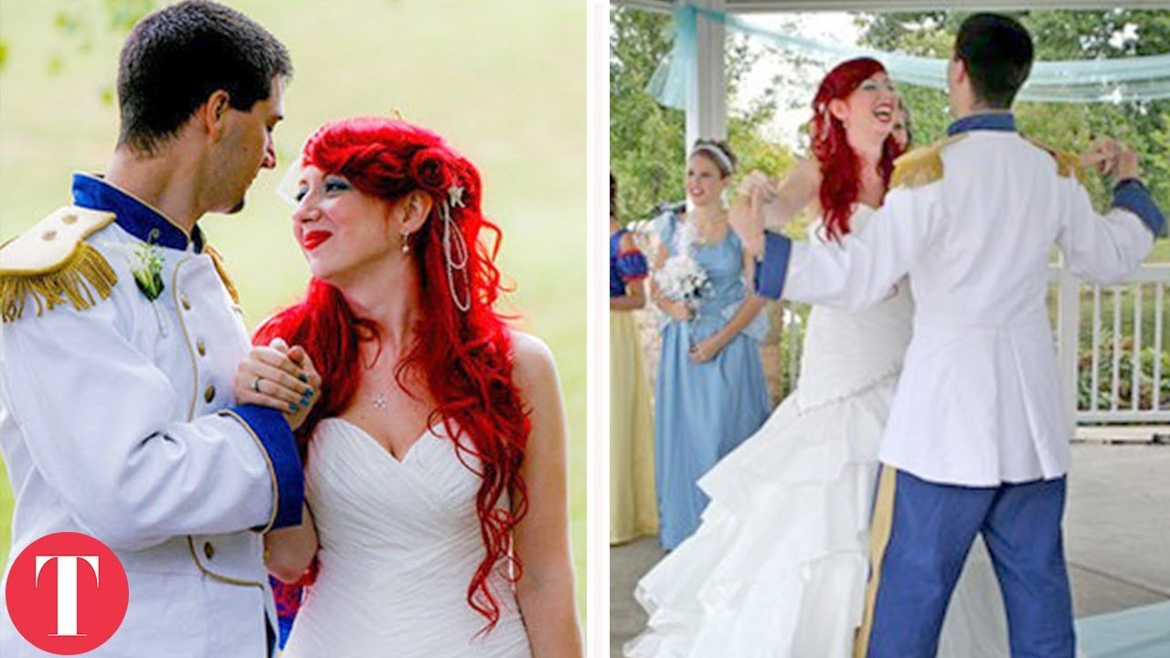 Real Weddings Youtube: 10 Real Life DISNEY WEDDINGS