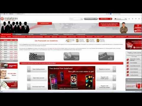 Kontoeröffnung InstaForex für Forex-4you.com