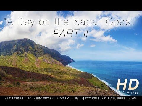 """""""A Day on the Nā Pali Coast"""" Kauai PART II Nature Relaxation Video 1080p"""