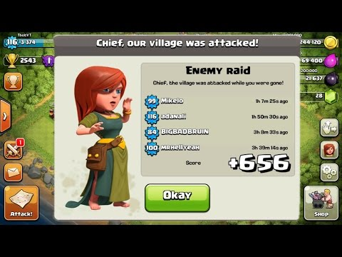 +656 TROPHIES ON DEFENSE IN 15 HOURS! CLASH OF CLANS AMAZING BASE! PROOF + REPLAYS!: