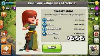 +656 TROPHIES ON DEFENSE IN 15 HOURS! CLASH OF CLANS AMAZING BASE! PROOF + REPLAYS!