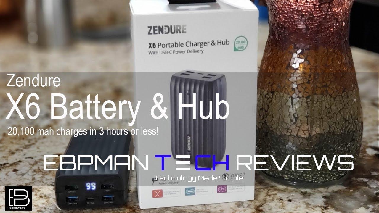 New Zendure X6 20 100 Mah Bank 5 Device Battery Charger Up Hub