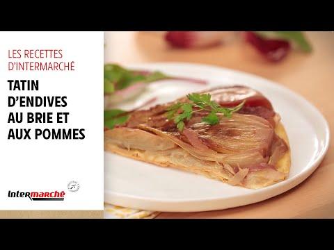 intermarché---idées-recettes-:-la-tatin-d'endives-au-brie-et-aux-pommes