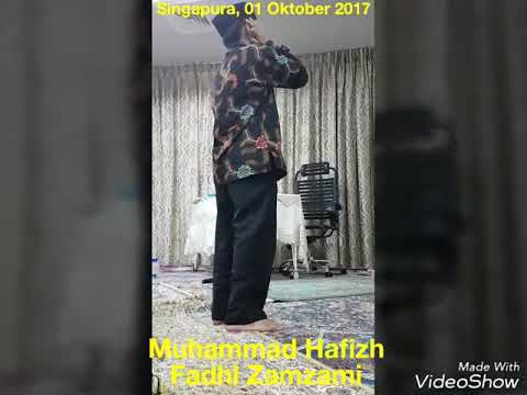 Jamaah Singapura Menangis dengar Azan Muhammad Hafizh Fadhl Zamzami