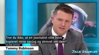 Interview yesterday on danish television . Usual nonsense from the main stream