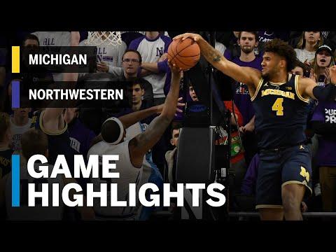 Highlights:  Michigan at Northwestern | Big Ten Basketball