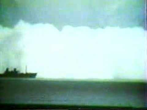 Nuclear bomb explosion at sea - bikini atolls