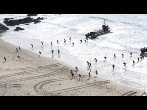 Royal Marines Storm Beach During Exercise Trident Juncture [HD]