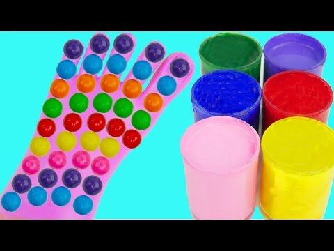 Thumbnail: Learn Colors for Kids Body Paint Gum Candy Finger Family Song Rhymes Foot Feet Toes